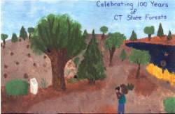 Winning Poster, Centennial Poster Contest, Department of Environmental Protection, State of CT, created by Amy Varsell, 6th Grade, Har-Bur Middle School, Burlington, CT